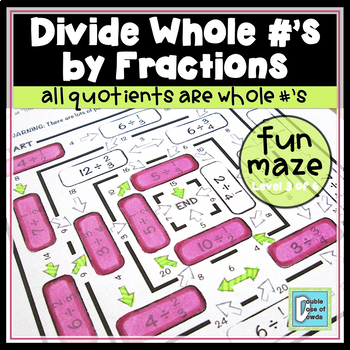 Divide Whole Numbers by Fractions Maze 1