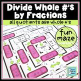 Divide Whole Numbers by Fractions Worksheet 1