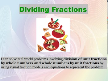 5.NF.7 dividing fractions review FLIPCHART