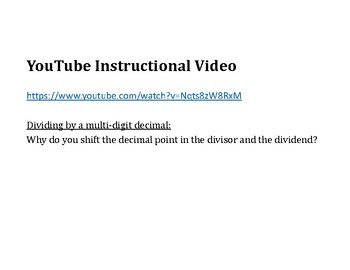 Divide a Decimal by a Decimal PowerPoint