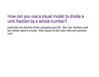 Divide a Fraction by a Whole Number PowerPoint