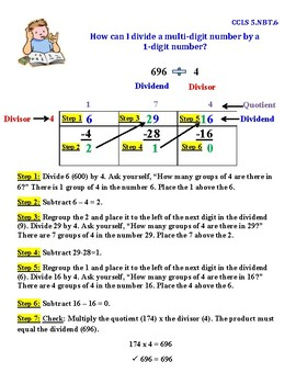 Divide a Multi-Digit Number by a 1-Digit Number InstaChart