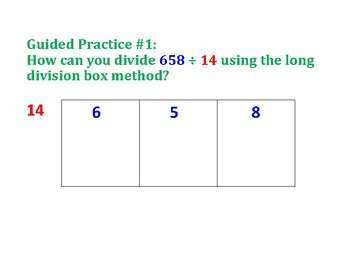 Divide a Muti-Digit Number by 2 Digit Number PowerPoint
