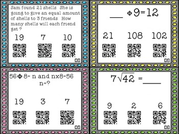 Divide and Conquer Equations with QR Codes