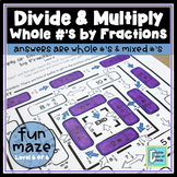 Divide and Multiply Whole Numbers by Fractions Maze 2
