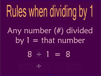 Divide by 1 and 0