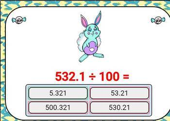 Divide by 10, 100, and 1000. Digital Boom Cards for Place Value and Decimals