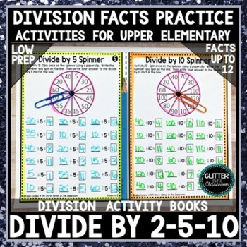 Divide by 2-5-10 Activity Book - Division Activity Pages
