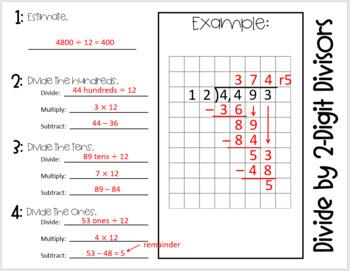 Divide by 2- Digit Divisors (Foldable)