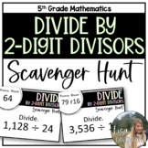 Divide by 2- Digit Divisors (Scavenger Hunt)