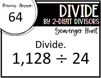 Divide by 2- Digit Divisors (Scavenger Hunt)
