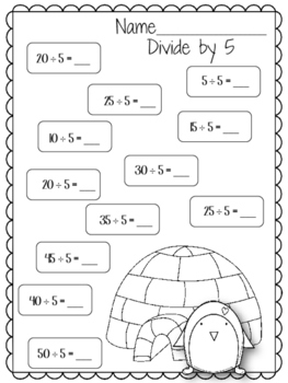 Divide by 5. Worksheets. Five. Divison. Review.