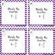 Divide by Fractions Task Cards