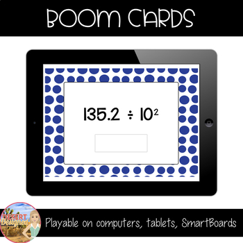 Divide by Powers of Ten Boom Cards