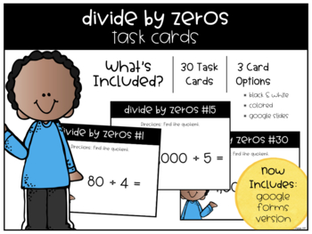 Divide by Zeros Task Cards
