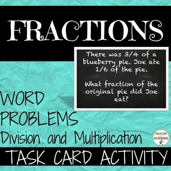Multiplication Division Word Problems Interactive Teaching Resources ...