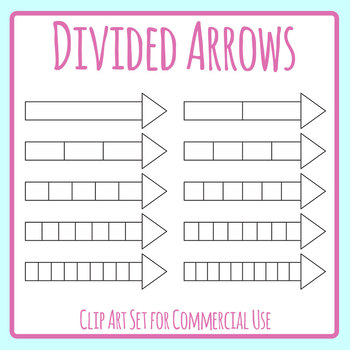Divided Arrow Templates Clip Art Set for Commercial Use