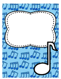 Divider or binder cover page music
