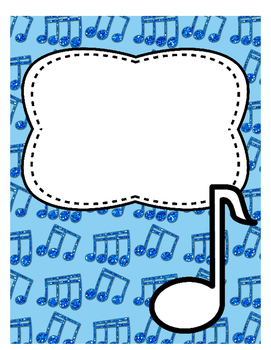 divider or binder cover page music by amy rittle tpt
