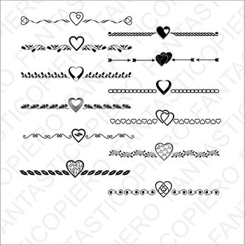 Dividers Valentine's day, wedding and love SVG files