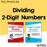 Step By Step Long Division With Two Digit Dividend Worksheets Bundle