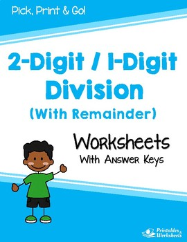 Division with With Remainder - Dividing 2-Digit by 1-Digit