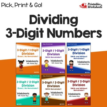 Dividing 3 Digit Numbers Worksheets With Answer Keys