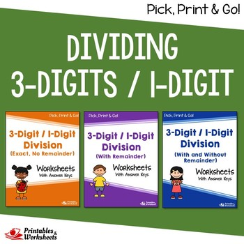 Dividing 3-Digit by 1-Digit Numbers, Long Division Practic