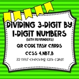 Dividing 3-Digit by 1-Digit Numbers (with remainders) QR C