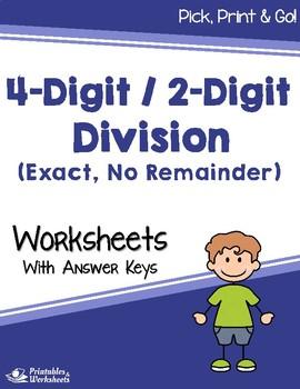 Dividing 4-Digit by 2-Digit Numbers -Divide by 2 Digit Divisor
