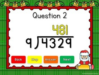 Dividing 4 Digit by 1 Digit Numbers Powerpoint Game