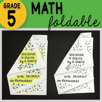 Math Doodle - Dividing 4 Digit by 2 Digit Numbers ~ Foldable Notes ~