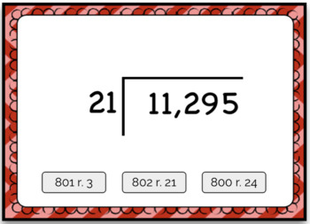 Dividing 4+ by 2 Digit Computation Problem Boom Card Deck - Set 2