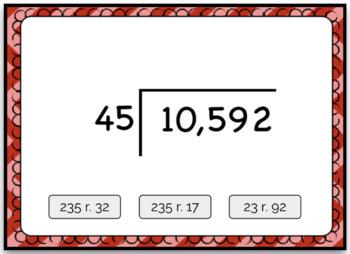 Dividing 4+ by 2 Digit Computation Problem Boom Card Deck - Set 2