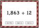 Dividing 4+ by 2 Digit Word & Computation Boom Card Deck BUNDLE {Differentiated}