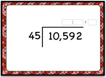Dividing 4+ by 2 Digits Digital Boom Cards - Computation Set 2 - Open Ended