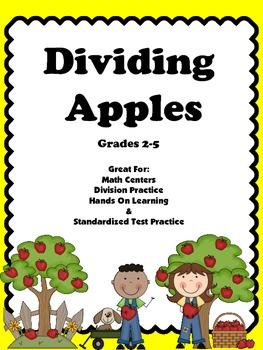 Division: Dividing Apples Task Cards