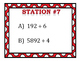 Dividing By 1-Digit Numbers Stations (Remainders & Mixed Numbers)
