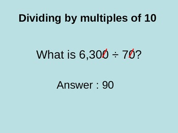 Dividing By Multiples of 10 Instructional PowerPoint