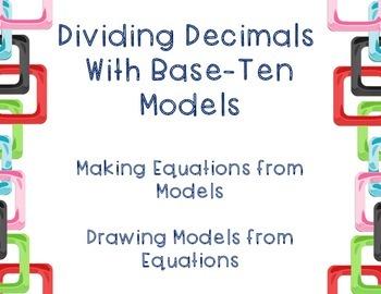 Dividing Decimal Models TEKS 5.3F
