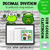 Dividing Decimal Numbers by Whole Numbers | St Patricks My