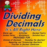 Dividing Decimals Unit: Division w/ Rounding, Repeating Quotients, Word Problems