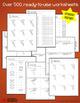 Decimal Division Worksheets (Includes Dividing Decimals by
