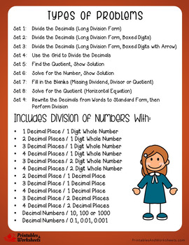 Decimal Division, Dividing Decimal by Decimal, Dividing Decimal by Whole Numbers