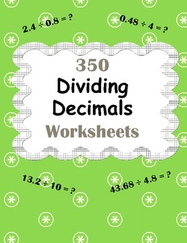 Dividing Decimals Worksheets