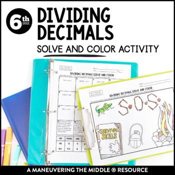 Dividing Decimals Solve and Color Activity
