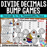 Dividing Decimals Games: 10 Multi-Level Bump Games for Decimal Division