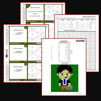 Dividing Decimals By Decimals Worksheets Or Whole Numbers Activities Bundle