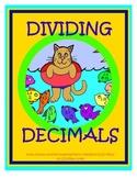 Dividing Decimals 5th Grade Common Core File Folder Center / Task Card