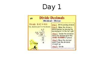 Dividing Decimals 6.NS.3 Day 1